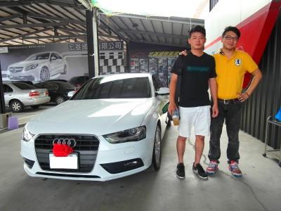 賀!!2012 奧迪 A4 交車!!! 感謝台中 洪先生!! 又是一台車
