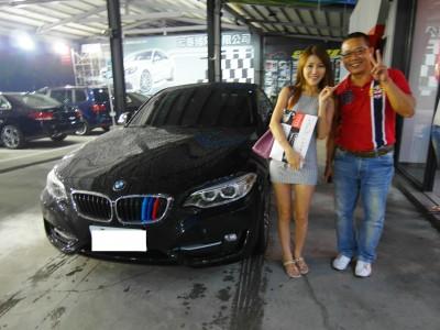 賀!! 2014 BMW 220i 交車!!