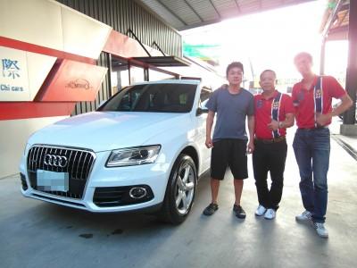 賀 2013 Audi Q5 交車!!